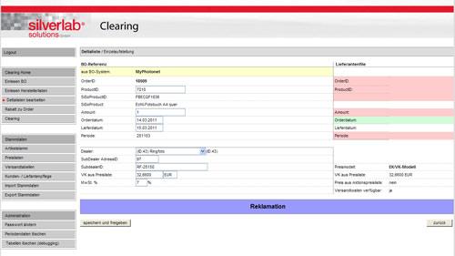 Clearing-Schnittstelle